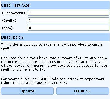 cast test spell