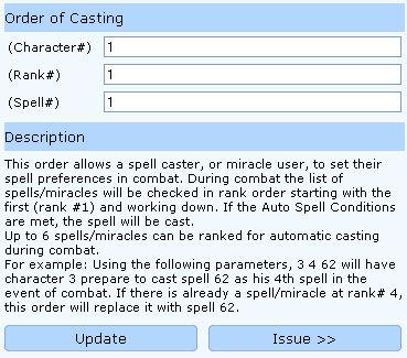 order casting